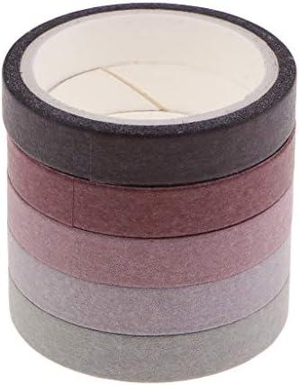 飾りテープ 手帳テープ 和紙テープ マスキングテープ DIY 工芸品 ギフト 装飾 全6種類 - A