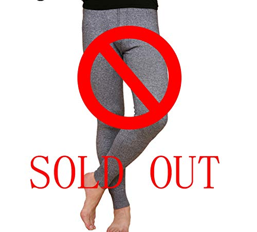 Winter Tights Wool Men's Long Johns Thermal Underwear Pants Trousers Thermal Underwear Mens Leggings Fashion,Gray,M (Polypro Womens Pants)