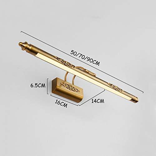 . Inicio delantera de espejo luz simple Cuarto de baño WC resistente al agua de lavado Niebla Rust LED Iluminación decorativa Lámpara de pared Tabla Dresser (Color : White light)