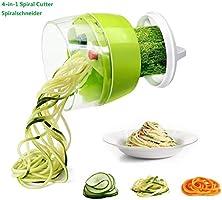 Fun Life Gemüseschneider Spiralschneider Gemüsehacker, Obstschneider