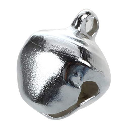 Pendant Drop Ornaments - 20 Pcs Christmas Jingle Bells 10 Mm Silver Tone - Bell Decor Bell Table Jacquard Chriatmas Big Chime Houses Office A Bell Metal Home Ornaments Jingle Window Copper Bel