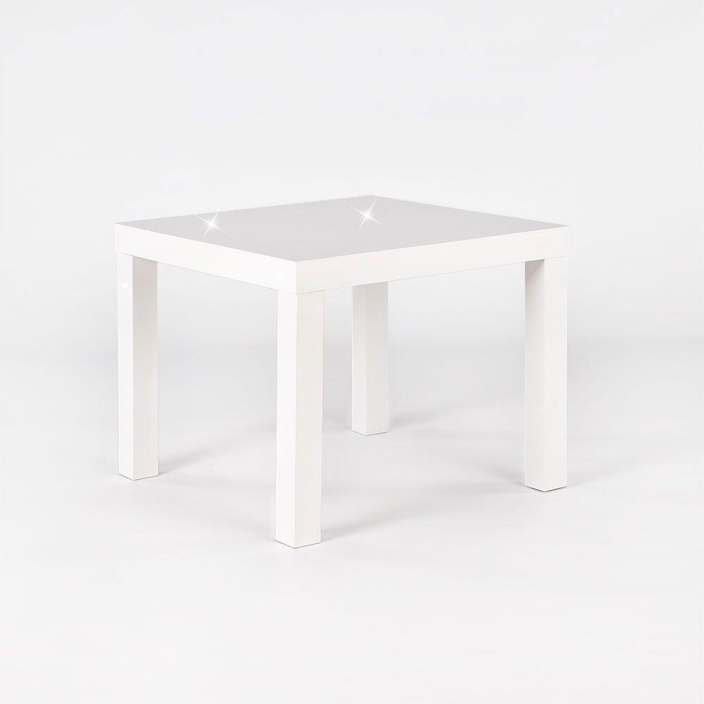 Mixibaby - Tavolino da Salotto, in Bianco o Nero, Disponibile in 3 Misure (Piccolo, Bianco Lucido)