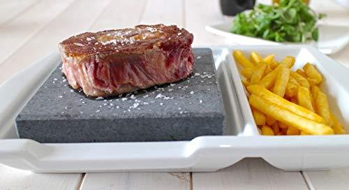 Porcelain Steak on a Stone Set