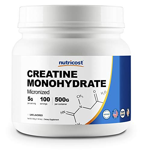 Nutricost Creatine Monohydrate 500G – 100 Servings, 5000mg Per Serv – Pure Micronized Creatine Monohydrate