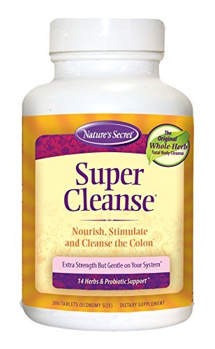 - Super Cleanse by Nature's Secret | Herbal and Probiotic Support, 200 Tablets