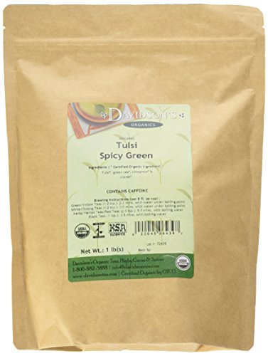Davidson's Tea, Tulsi Spicy Green, 16-Ounce Bag