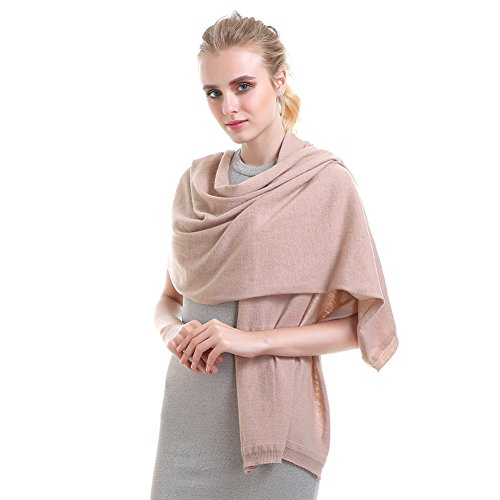 Vemolla Women Knitted Wool Solid Long Shawl Scarf Warp Soft Pink (Pink Knitted Scarf)