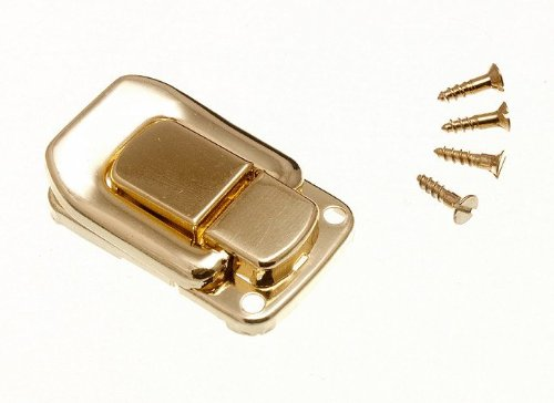 100 X Case Clasp Toggle Fastening Trunk Catch 48Mm X 33Mm Brass Plated by DIRECT HARDWARE