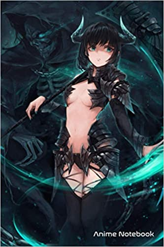 Anime Notebook: Lewd Anime Girl Ecchi Grim Reaper Waifu Aesthetic Otaku Lined Notebook (Journal,Diary) College Ruled 6x9 120 Pages   Anime Notebook Collection