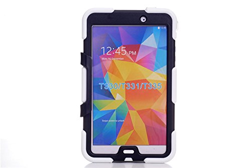 Galaxy Tab 4 8.0 Inch T330 Tablet Case, Vogue Shop Heavy Duty rugged impact Hybrid Case Ultra Tough Kickstand Shock Proof Case Cover For Samsung Galaxy Tab 4 8.0 inch T330 /T331/ T335 (2014 Released) (White)