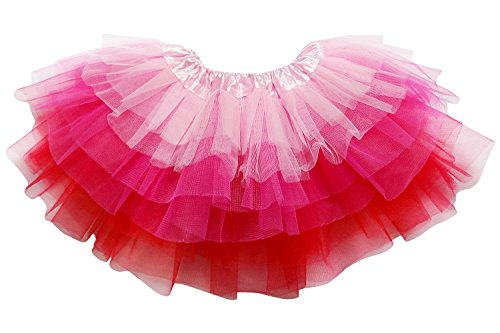 So Sydney Adult Plus Kids Size 6 Layer Fairy Tutu Skirt Halloween Costume Dress (M (Kid Size), Pink Hot Pink (Hot Fairy Teen Costumes)