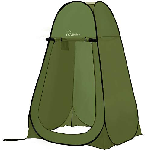 (WolfWise Pop-up Shower Tent Green)