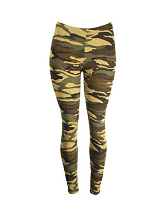 Green Camo Army Design-military Themed-stretchy Leggings Pants