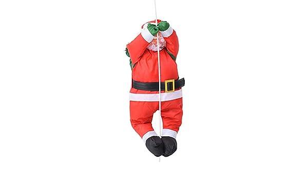 S-tubit 60CM Papá Noel Que Sube en la Escalera de Cuerda Decoraciones Navideñas Colgante de Muñeca de Papá Noel al Aire Libre Method: Amazon.es: Hogar