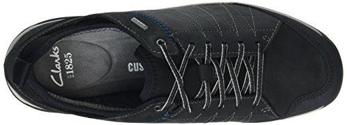 Clarks Baystonelo Gtx, Zapatos de Cordones Derby para Hombre Negro (Black Nubuck)