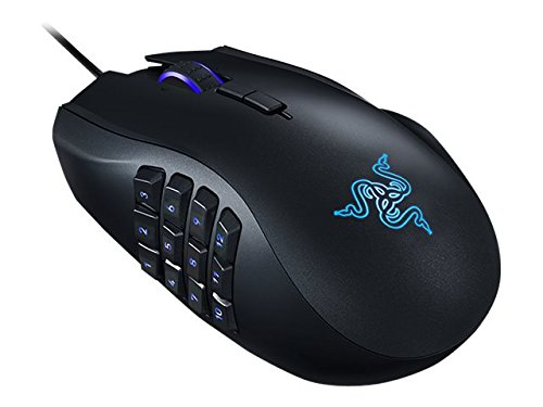 Razer Naga Chroma MMO Gaming Mouse - 12 Programmable Thumb Buttons - 16,000 DPI - Wired - RZ01-01610100-R3U1