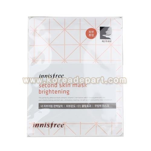 innisfree Second Skin Mask Brightening (3 Sheet)/ Made in Ko...