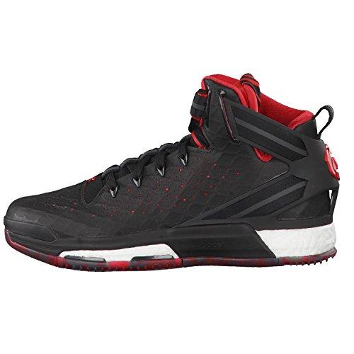 adidas D Rose 6 Boost - Zapatillas para niños Negro / Rojo / Blanco