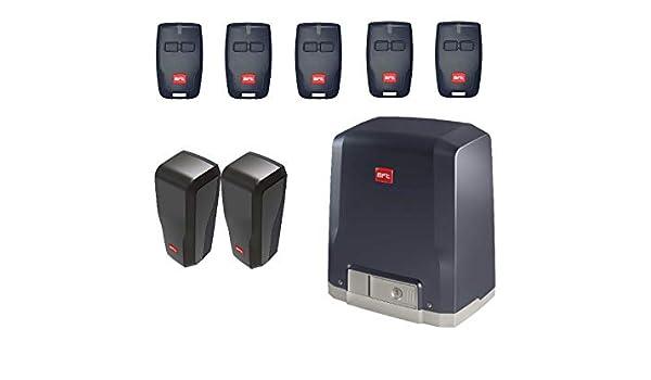 BFT DEIMOS KIT (DEIMOS AC A600 motor con unidad de control integrada + 5 X RCB02 transmisores + DESME A15 par de fotocélulas) para el accionamiento de puertas correderas de hasta 600