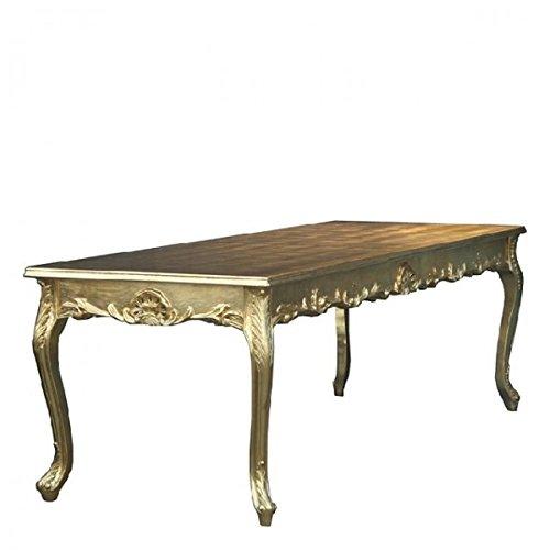 Casa Padrino Barock Esstisch Gold 180cm - Esszimmer Tisch - Möbel Antik Stil