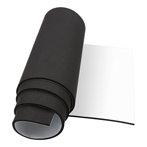 Foam Insulation, Foam Padding Roll Self Adhesive Weather Stripping Non-Slip Neoprene Rubber Sheet Mat 1/4 Inch Thick X 12 Inch Wide X 59 Inch Long ()