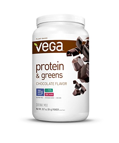 Vega Protein & Greens Plant Based Protein Powder, Chocolate,