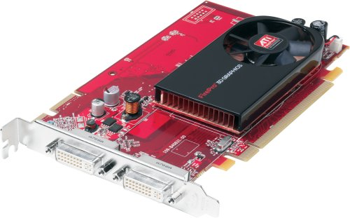 ATI FirePro V3700 Grafikkarte (PCI-e, 256MB GDDR3 Speicher, 256 Bit, 2x DVI-I, 1 GPU)