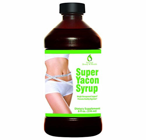 Yacon Syrup 100% Pure Gluten Free Sugar Substitute - Appetite Suppressant for Natural Weight Loss, Increased Metabolism, Balanced Blood Sugar, Increased Beneficial Gut Bacteria - Low Calorie Low Glycemic High Fiber Prebiotic Superfood - 8 fl. oz. 100% Pure Raw Natural and Vegan - High Quality, Low Promotional Price (Best Price Yacon Syrup)