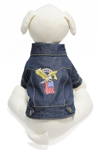 Gooby Denim Jacket for Pets, X-Small, Eagle