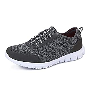 Huahuahuipin Women's Casual Athletic Sneakers Lightweight Comfortable Running Shoes Grey