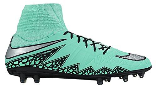 Nike Men's Hypervenom Phatal Ii Df Fg Football Boots Green / Silver / Orange (Grn Glw/Metallic Slvr-hypr Orng-b) 5lykSs50