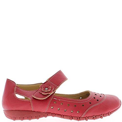 Comfort donna rosso scarpe imposta luce foro