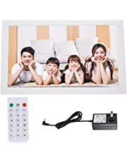 18'' Digital Picture Frame, Digital Photo Frame 1366 * 768 Large HD Screen with Remote Control 1080P Video/Music/Photo/Alarm Clock/Calendar/Movie Player Built-in Dual Speakers (16:9) (White)