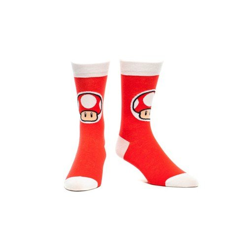 Toad From Mario Costumes (Bioworld Men's Socks Toad 39/42 Red)