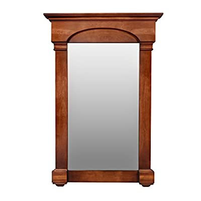 "Verona Style Wood Framed Mirror 27"" x 39"" in Colonial Cherry"