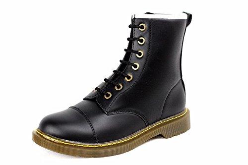 Hommes Chaussures Occasionnels Jas Lacent Chaussures De Mode Chelsea Simili Taille Rétro En Cuir Noir Uk 6-12