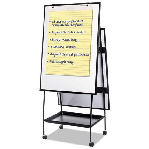 Creation Station Magnetic Dry Erase Board, 29 1/2 X 74 7/8, Black Frame (Creation Station)