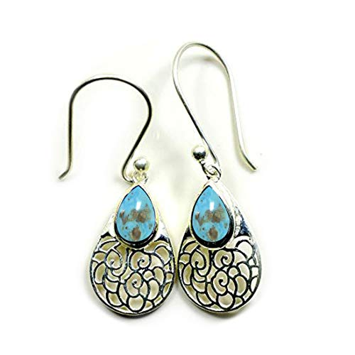 Jewelryonclick CHOOSE YOUR COLOR Natural Gemstone 925 Silver Dangle Earings For Her Wedding Jewelry ()