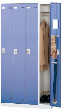 生興 SLBロッカー(扉ブルー) 内筒交換錠 ロッカー 4人用 W900×D515×H1800 SLBB-4-T2