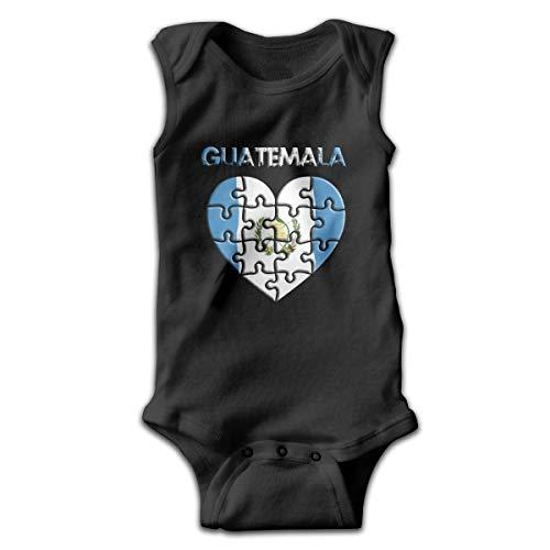 (Love Guatemala Baby Newborn Infant Creeper Sleeveless Onesie Romper Jumpsuit Black)