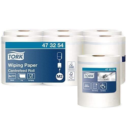 Tork Wiping Centerfeed Poetspapier Wit M2, voor handen en oppervlakken, 1 x 771 vellen, 473254