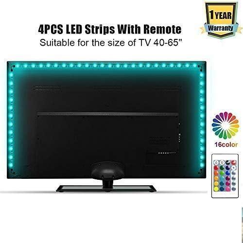 ACDGS Tira de luz LED Luz de fondo de TV 2 metros USB Barra de luz