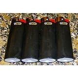 Lot of 4 Bic Ebony Jet Black Full Size Lighters New