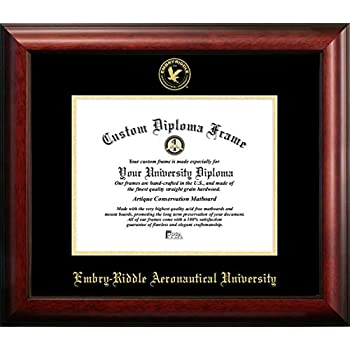 Image of Campus Images FL995GED Embry-Riddle Eagles Embossed Diploma Frame, 8.5' x 11', Gold Document Frames