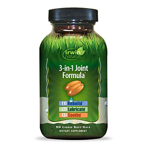 Irwin Naturals 3-in-1 Joint Formula - Powerful Joint Support Supplement with Glucosamine