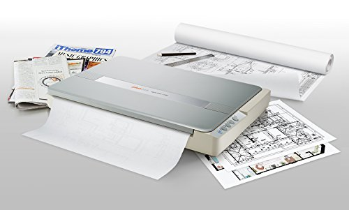 Plustek A3 Flatbed Scanner OS 1180 : Large Format scan Size for Blueprints and Document. Design for Library, School and Soho. A3 scan for 9 sec, Support Mac and - Scanner Scan Size 11x17