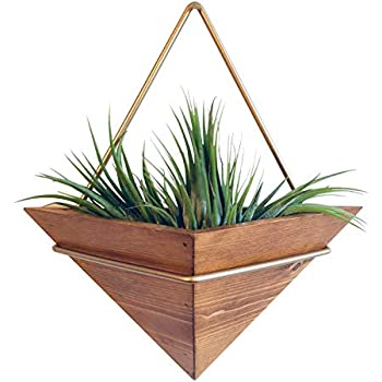 Artisanal Geometric Air Plant Holder - Made From, Sustainably Sourced Wood - Minimalist Style & EasyToHang Design - Ethical Geometric Wall Decor Air Plant