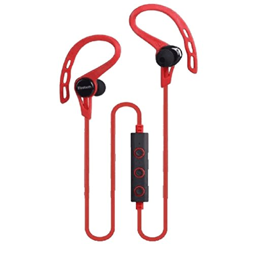 Price comparison product image Bluetooth Headset ,Wireless Stereo Headphone Earphone Sport Universal Handfree by Sunfei (Red)