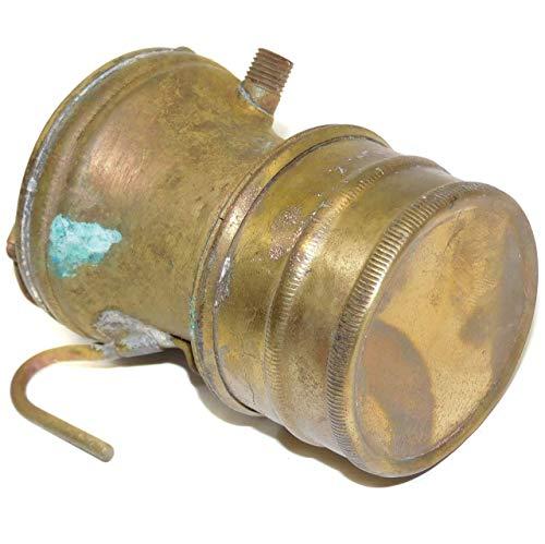 Shabby Well Worn Antique Autolite Carbide Lamp Coal Mining Helmet Miner