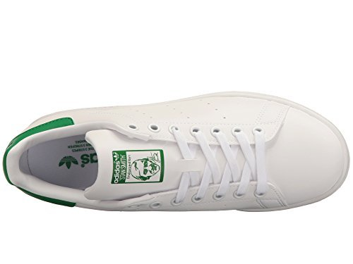 adidas Originals Women's Stan Smith Footwear White/Footwear White/Green Athletic Shoe – DiZiSports Store